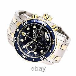 Invicta Men's Watch Pro Diver Chronograph Blue and Gold Tone Dial Bracelet 0077