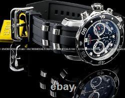 Invicta Mens Pro Diver Scuba Chronograph Silver Black Dial Strap SS Watch 21927