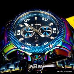 Invicta Pro Diver Scuba Carbon 1.0 48mm Chronograph Iridescent Blue Watch New
