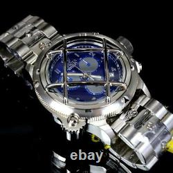 Invicta Russian Diver Nautilus Caged Swiss Mvt Steel Blue 52mm Chrono Watch New