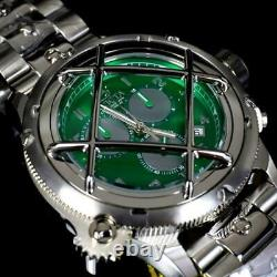 Invicta Russian Diver Nautilus Caged Swiss Mvt Steel Green 52mm Chrono Watch New