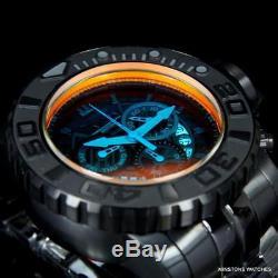 Invicta Sea Hunter Gen II 70mm Tinted Crystal Swiss Mvt Black Steel Watch New