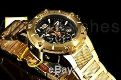 Invicta Speedway Viper 52MM Swiss Parts Gold Tone Chronograph Black Dial Watch