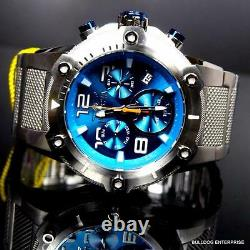 Invicta Speedway XL Teal Blue Stainless Steel Chronograph Swiss Parts Watch New
