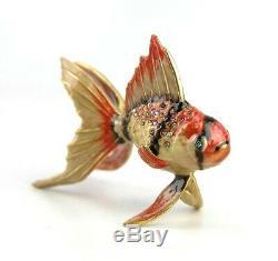 Jay Strongwater Gold Fish Adorable With Swarovski Crystals Brand New
