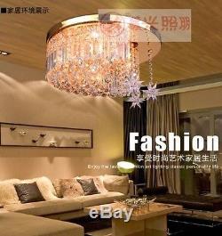 K9 Modern Crystal LED Moon Star Light Ceiling Lamp Chandelier Lighting