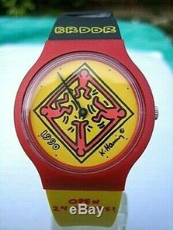 Keith Haring 1990 Watch Brddr Open 24 Hours Brand New-boxed Berlin Wall Open