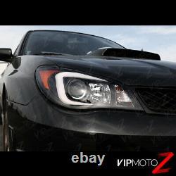 LATEST OLED TUBE Black Headlights D2S Factory Xenon For 06 07 Subaru WRX STI