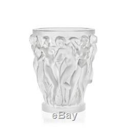 Lalique Crystal Bacchantes Vase #1220000 Brand Nib Frosted Women Save$$ F/sh