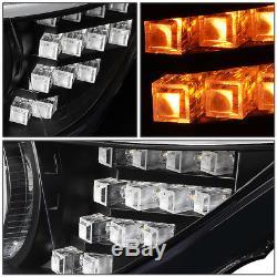Led 3d Crystal U-halo+drlfor 2012-2016 Bmw 3-series F30 F31 Headlight Black