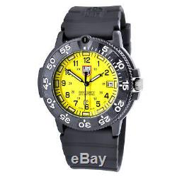 Luminox Men's Watch Original Navy Seal Yellow Dial Black Rubber Strap 3005