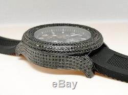 Mens Brand New 52Mm Bezel G-Master/Joe Rodeo Black Simulated Diamond Watch 15 Ct