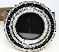 Mens Brand New 52Mm Bezel I Gucci Digital Black And White Diamond Watch 18.5 Ct