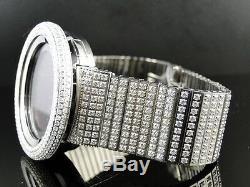 Mens Brand New 52Mm Bezel I Gucci Digital White Genuine Diamond Watch 7 Ct