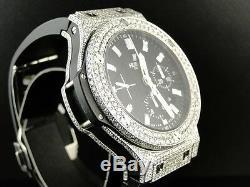 Mens Brand New Custom Hublot Big Bang 44 Mm Genuine Diamond Watch 10.5 Ct