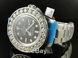 Mens Brand New Custom Rolex 46 Mm Sea Dweller Deep Sea Genuine Diamond Watch
