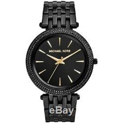 Michael Kors MK3337 Darci Crystal Black Pave Glitz Women's Ladies Wrist Watch