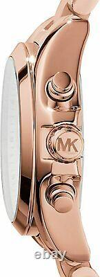 Michael Kors MK5799 Bradshaw Rose Gold Tone Women Unisex Watch Brand New
