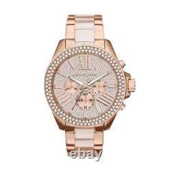 Michael Kors MK6096 Rose Gold Wren Chrono Women Wrist Watch Brand New