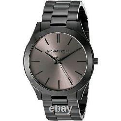 Michael Kors MK8507 Slim Runway Black Men Watch Brand New