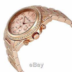 Michael Kors Mk5263 Rose Gold Blair Chrono Analogue Watch Brand New Rrp £229