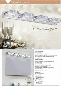 Modern Bathroom Crystal Wall Light Mirror Front Vanity Light LED Make-up Lamps