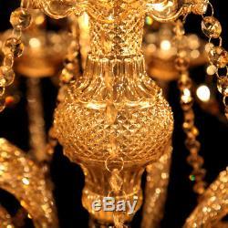 Modern Ceiling Elegant Crystal Chandelier 15 Light Lamp Pendant Lighting Fixture