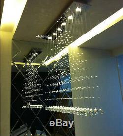 Modern Contemporary Rain Drop LED K9 Crystal Chandelier Pendant Light Ceiling Li