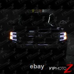 NEON OPTIC TUBE 2007-2013 Chevy Silverado Black Projector Halo Headlights Lamp