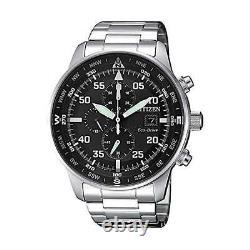 NEW Citizen Crono Aviator Men's Eco Drive Chronograph Watch CA0690-88E