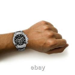 NEW HUGO BOSS HB1512965 IKON Black Watch Quartz Chronograph Stainless Steel