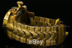 NEW Invicta Men's 53mm Venom Swiss Movt Chrono 18K Gold Plated SS Bracelet Watch