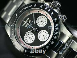 NEW Invicta Mens 40mm Speedway Paul Newman Panda Dial Chronograph Tachy SS Watch