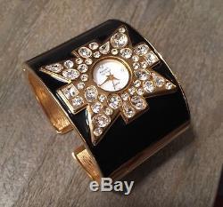 NEW KENNETH JAY LANE Womens Ladies WATCH BRACELET Swarovski Crystal With Box