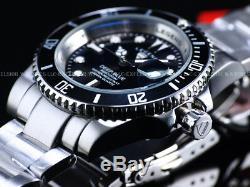 NEW Legend Mens 200m Deep Blue Diver Midnight Black Dial Miyota Quartz SS Watch