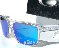 NEW Oakley SLIVER Crystal Clear w Sapphire Blue Iridium Sunglass oo9262-06