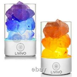 Natural Himalayan Salt Lamp Colour Changing Led Crystal Salt Light Ioniser Usb