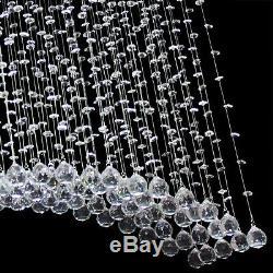 New Bridge Wave Crystal Lighting Ceiling Light Pendant Lamp Chandelier