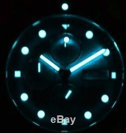 New Deep Blue 40mm Diver 1000 Quartz Chronograph Black Dial Sapphire Ss Watch