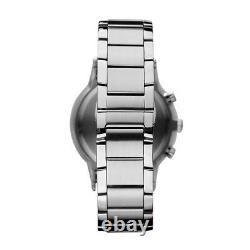 New Emporio Armani Ar2434 Mens Steel Watch 2 Years Warranty Certificate