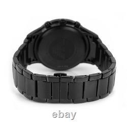 New Emporio Armani Ar2453 Mens Black Watch 2 Years Warranty Certificate