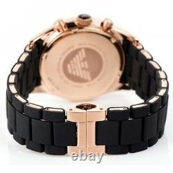 New Emporio Armani Ar5905 Rose Gold Mens Watch 2 Years Warranty Certificate