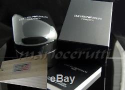 New Emporio Armani Ladies Black Ceramica Crystals Watch Ar1455 2 Year Warranty