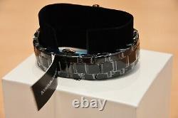 New Emporio Armani Men's Watch Ar1410 Black/rose Gold Ceramica Chronograph