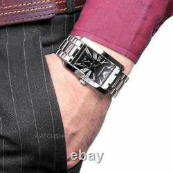 New Genuine Emporio Armani Ar0156 Classic Steel Black Dial Mens Watch Uk