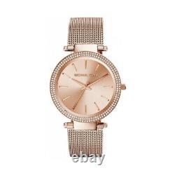 New Genuine Michael Kors Mk3369 Rose Gold Dial Mesh Strap Darci Womens Watch