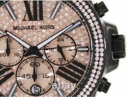 New Genuine Michael Kors Mk5879 Wren Rose Gold And Black Women's Watch Uk