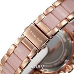 New Genuine Michael Kors Mk6096 Wren Crystal Rose Gold Ladies Watch Uk Rrp 299£