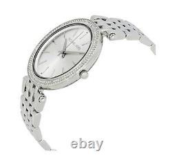 New Genuine Michael Kors Womens Mk3190 Ladies Silver Darci Watch Rrp 239£