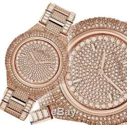 New MICHAEL KORS Camille Crystal Rose Dial Rose Gold-tone Ladies Watch MK5862